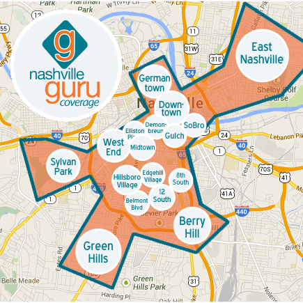 Nashville Guru    Discover Nashville's best neighborhoods, events, happy hours, restaurants, bars, shops, apartments, hotels, fitness centers, and more at   NashvilleGuru  .com.    http://nashvilleguru.com