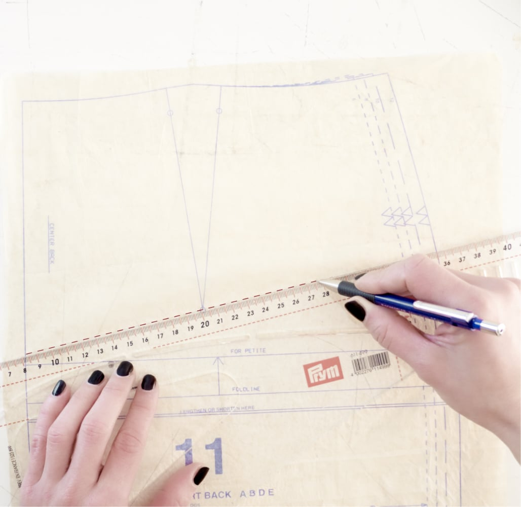 ::::1. add temporary guidelines on the pattern::1. aggiungi linee guida temporanee::::