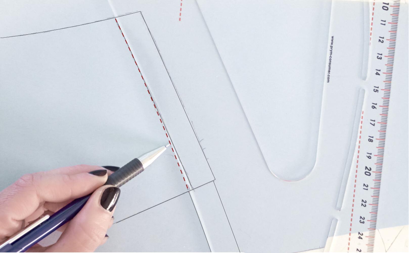 ::::blend to restore the flow of the side seam ::raccorda per ripristinare la continuità della cucitura laterale. ::::