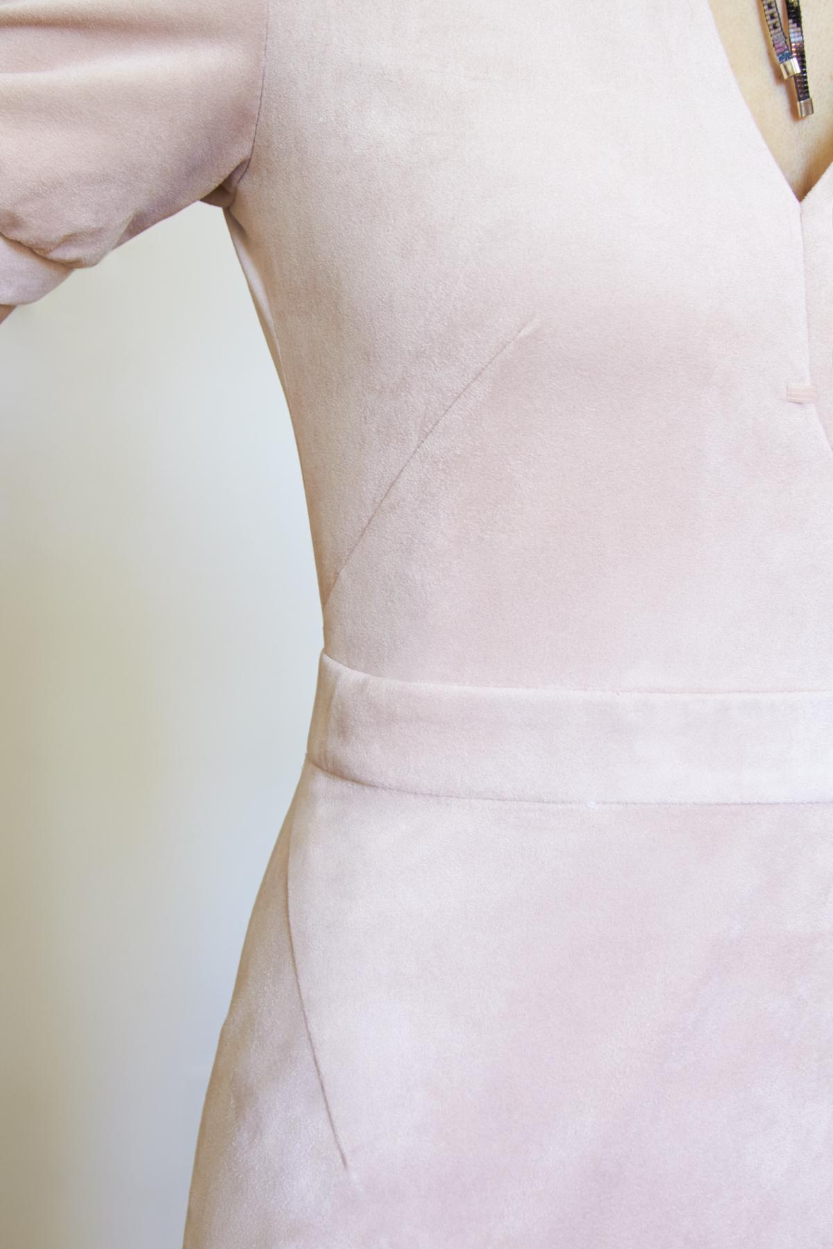 Stretch ultra-microfiber dress