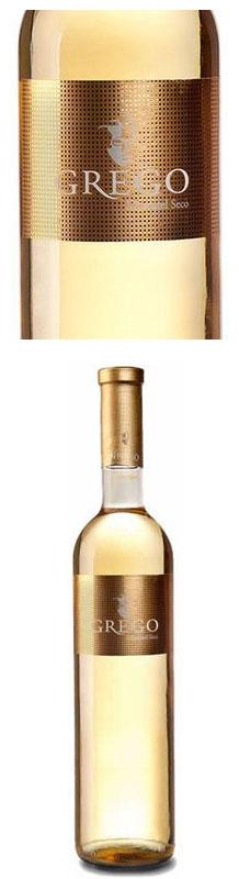 Etiqueta del Vino Blanco Grego Moscatel Seco