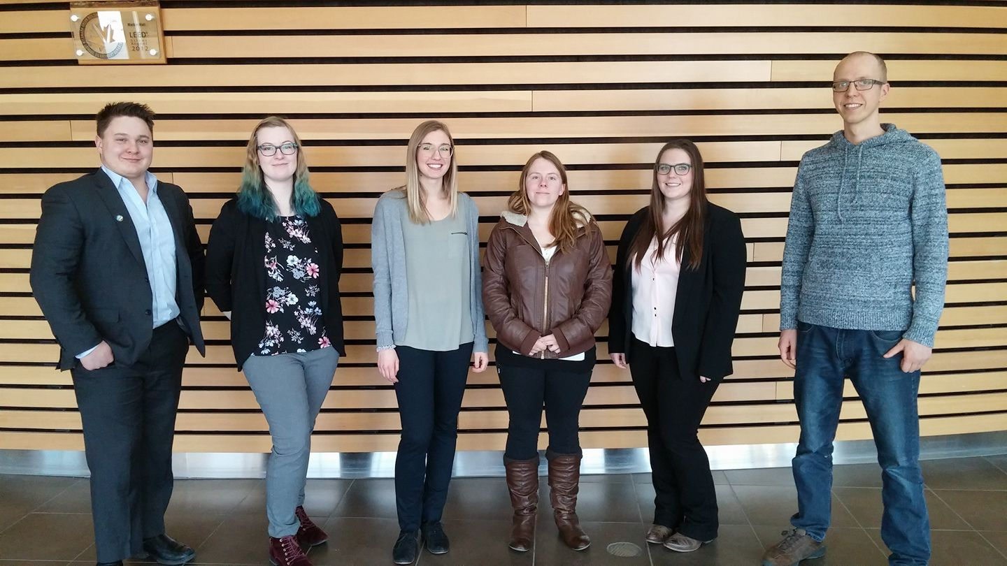 Our KPMG finalists: Carter, Keely, Reanne, Amber, Sarah, and Caleb.