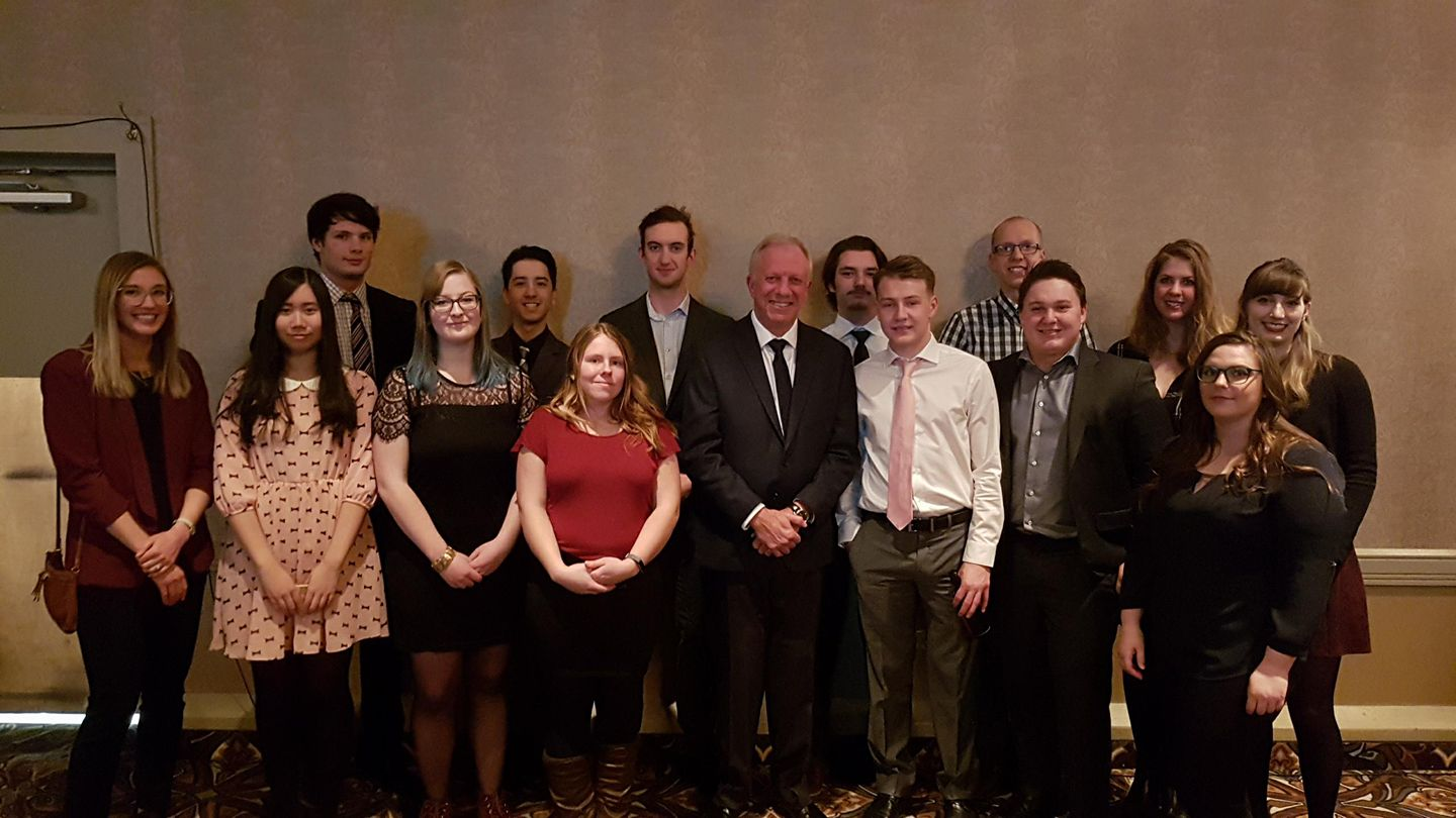 The IME class pictured with Darby Allen.