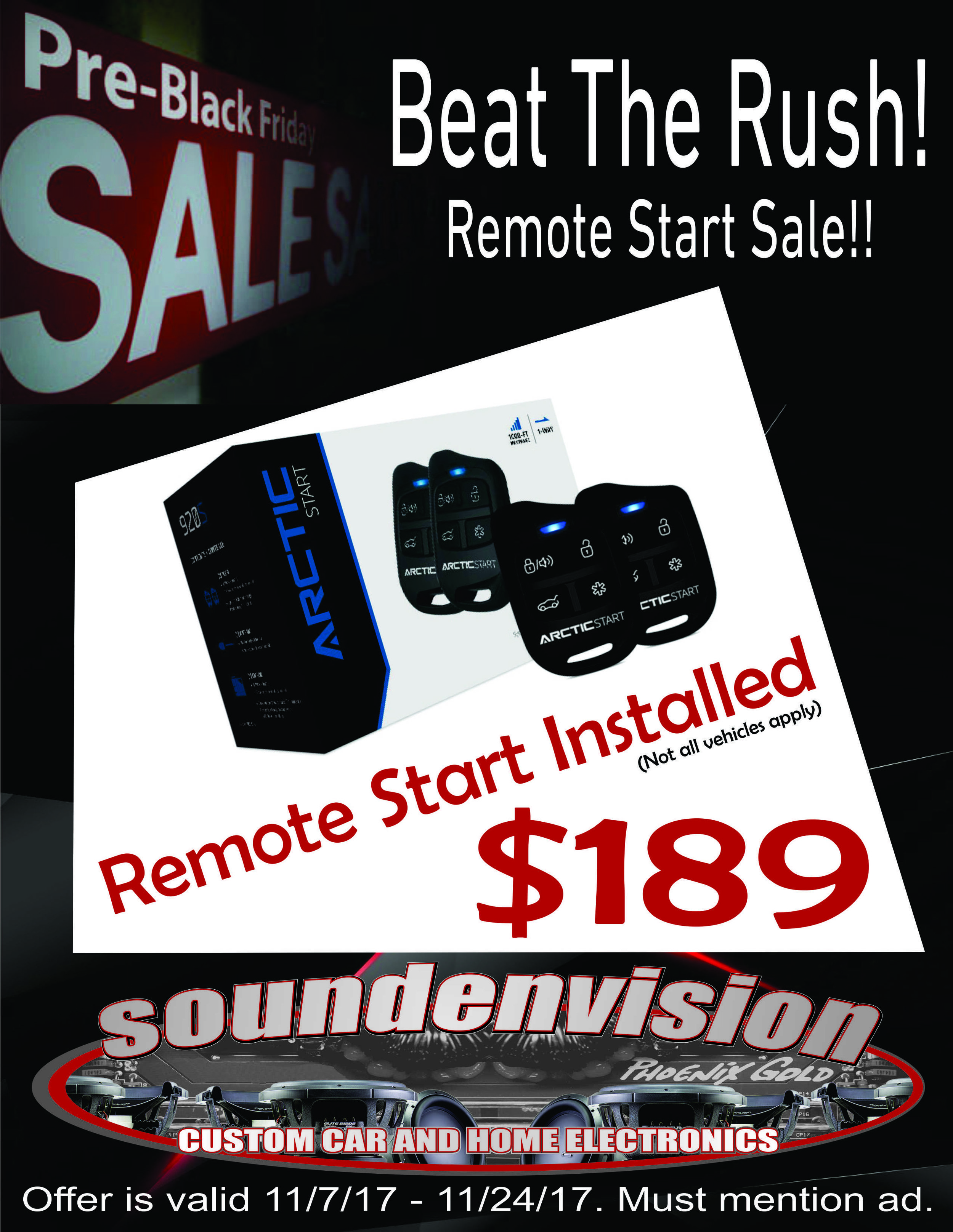 Remote Start Black Friday Sale Soundenvision Marshfield, MO