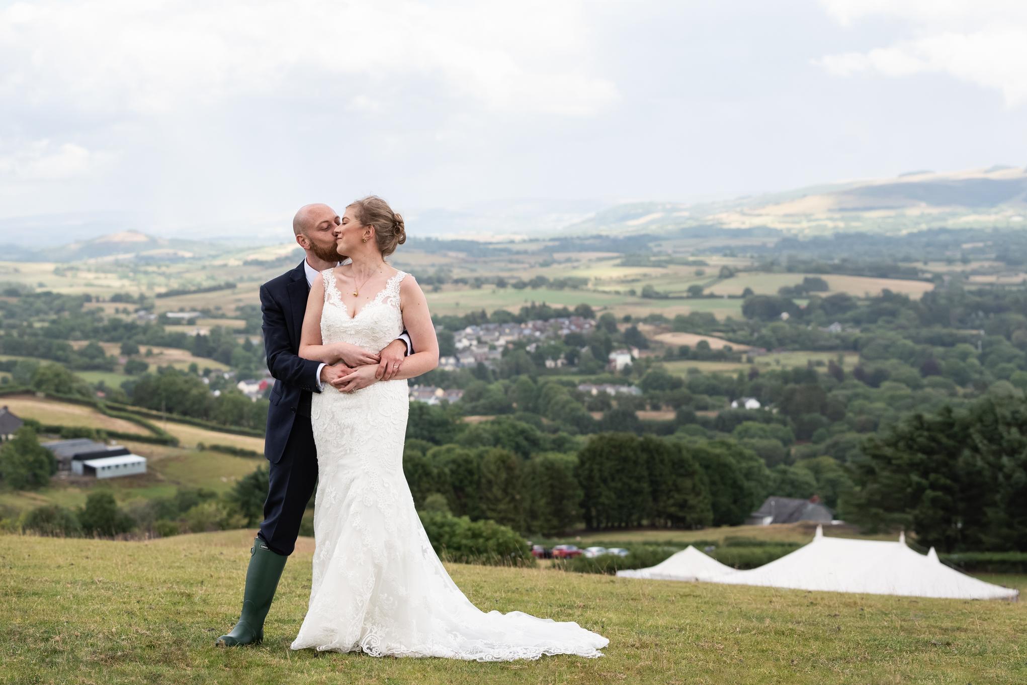 Wedding Bride & Groom - Powys Wedding Photography