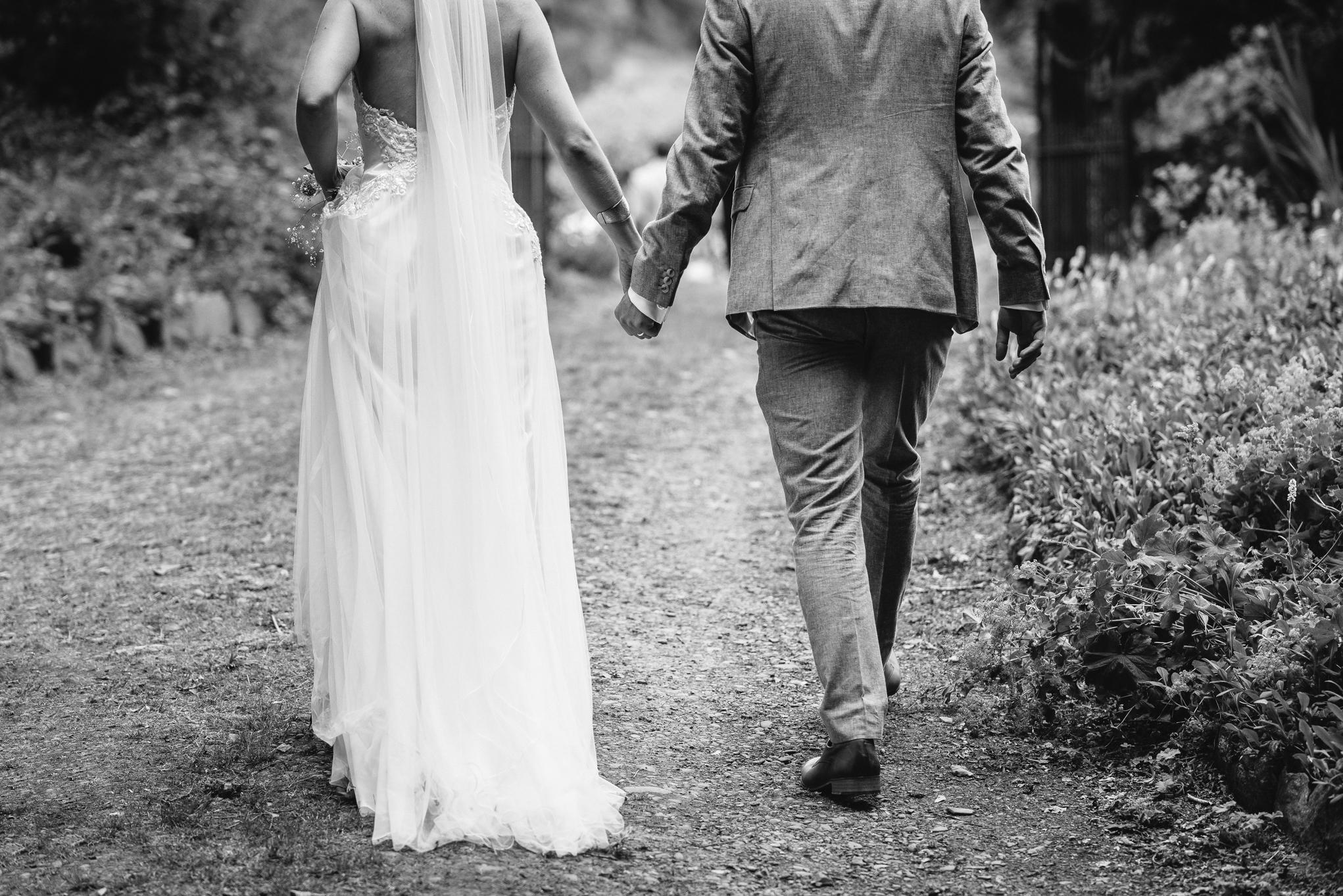 Copy of Bride & Groom Walking