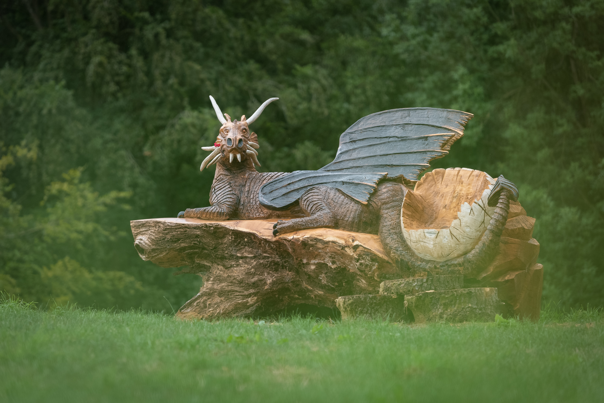 Copy of Dragon Wood Carving