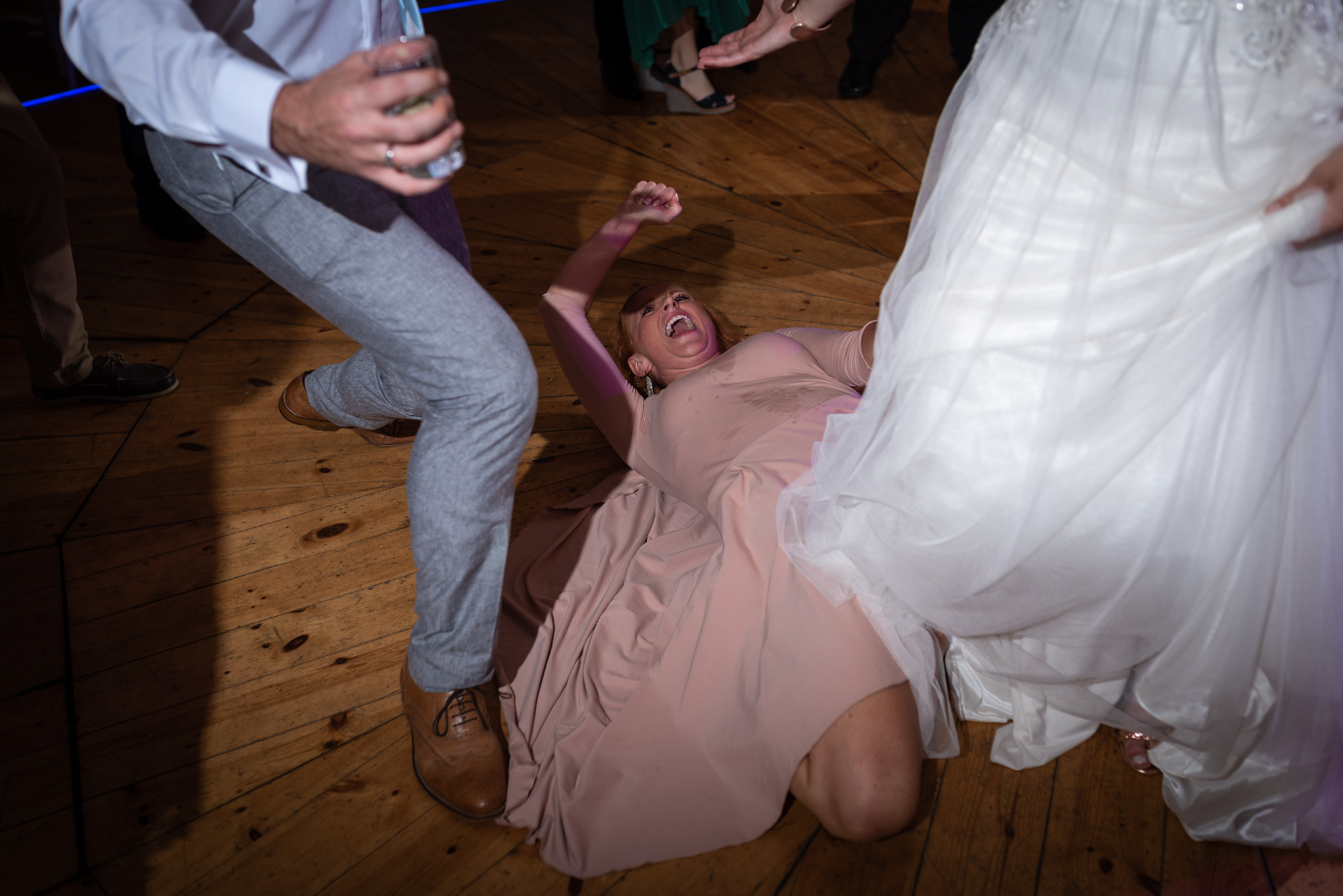 Copy of Bridesmaid Dancing on Floor at Wedding Party