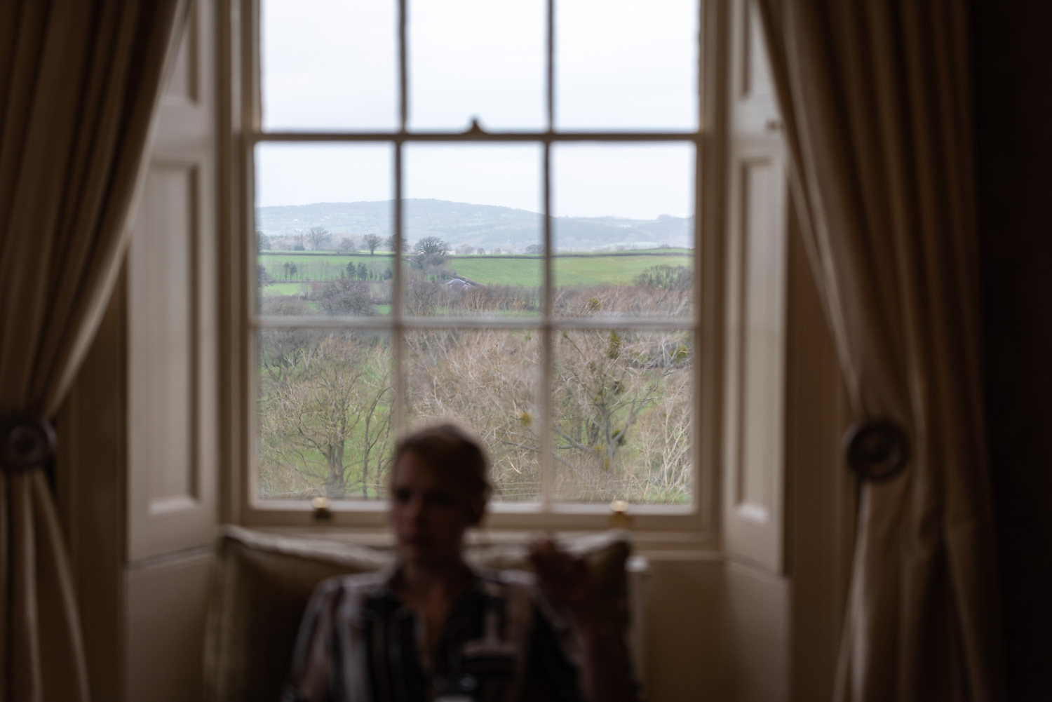 View from Brooks Country House bridal suite