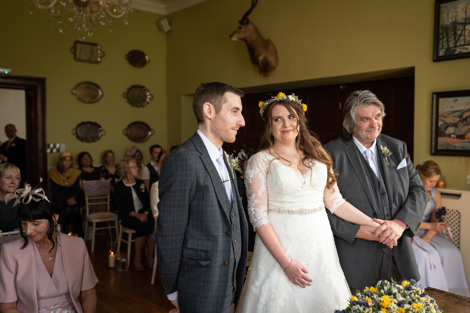 Bride and Groom during ceremony