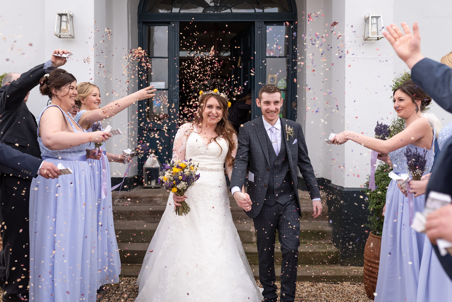 Confetti outside Brooks Country House