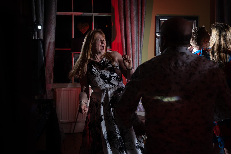 Woman dancing at party