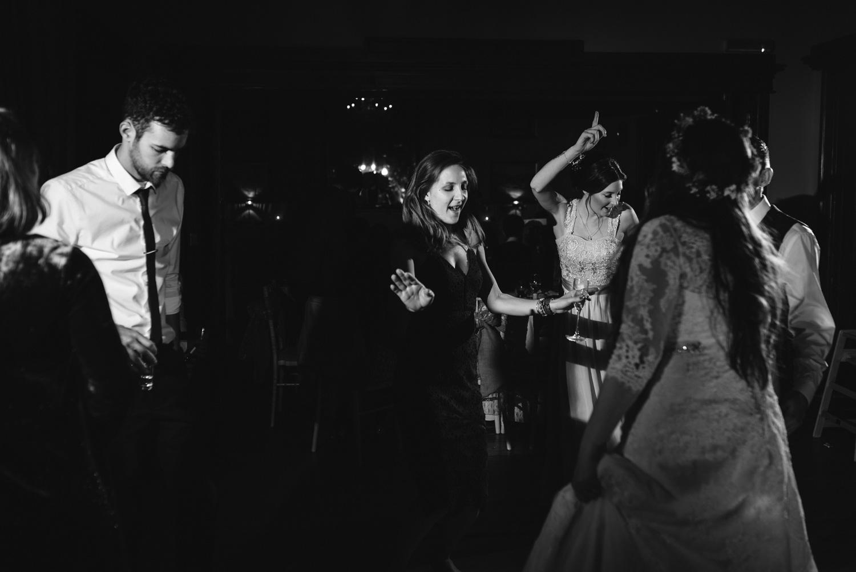 party dancing at wedding