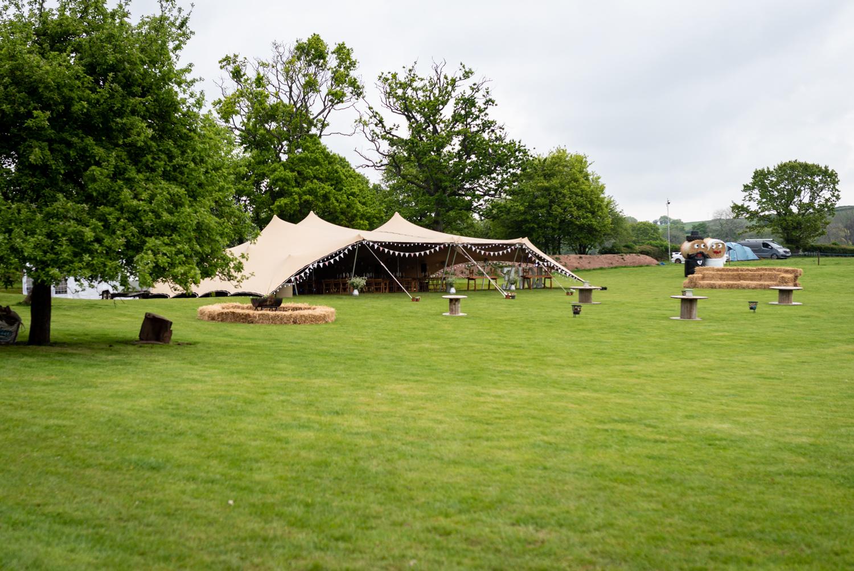 Stretch tent wedding marquee