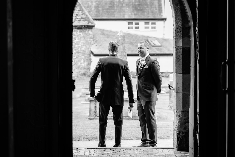 Ushers stood at church