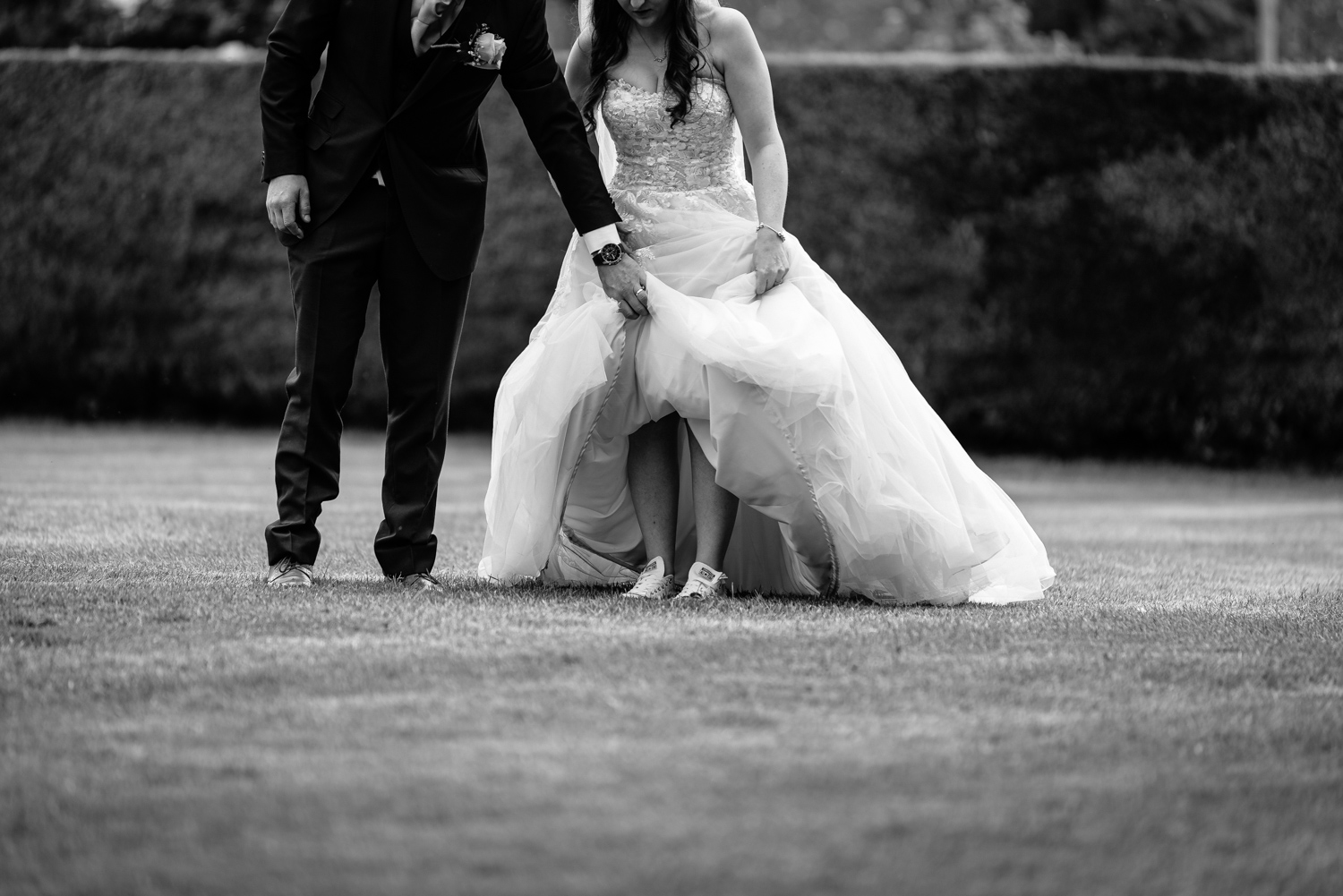 Brides wearing Converse trainers