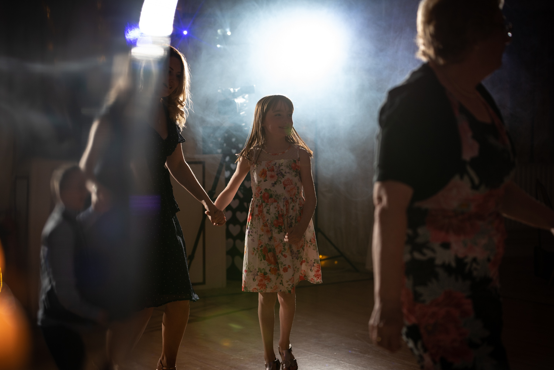 Dancing at Albright Hussey wedding