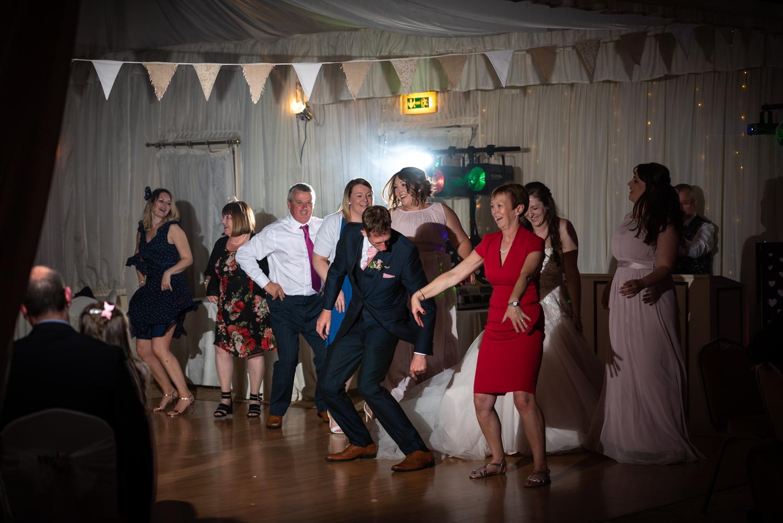 Albright Hussey wedding guests dancing
