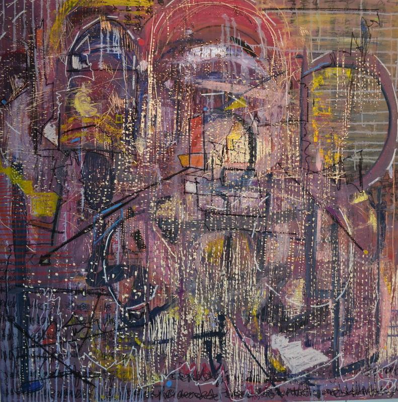 Worthy//Worth  60 x 60 inches, Oil on wood, 2013