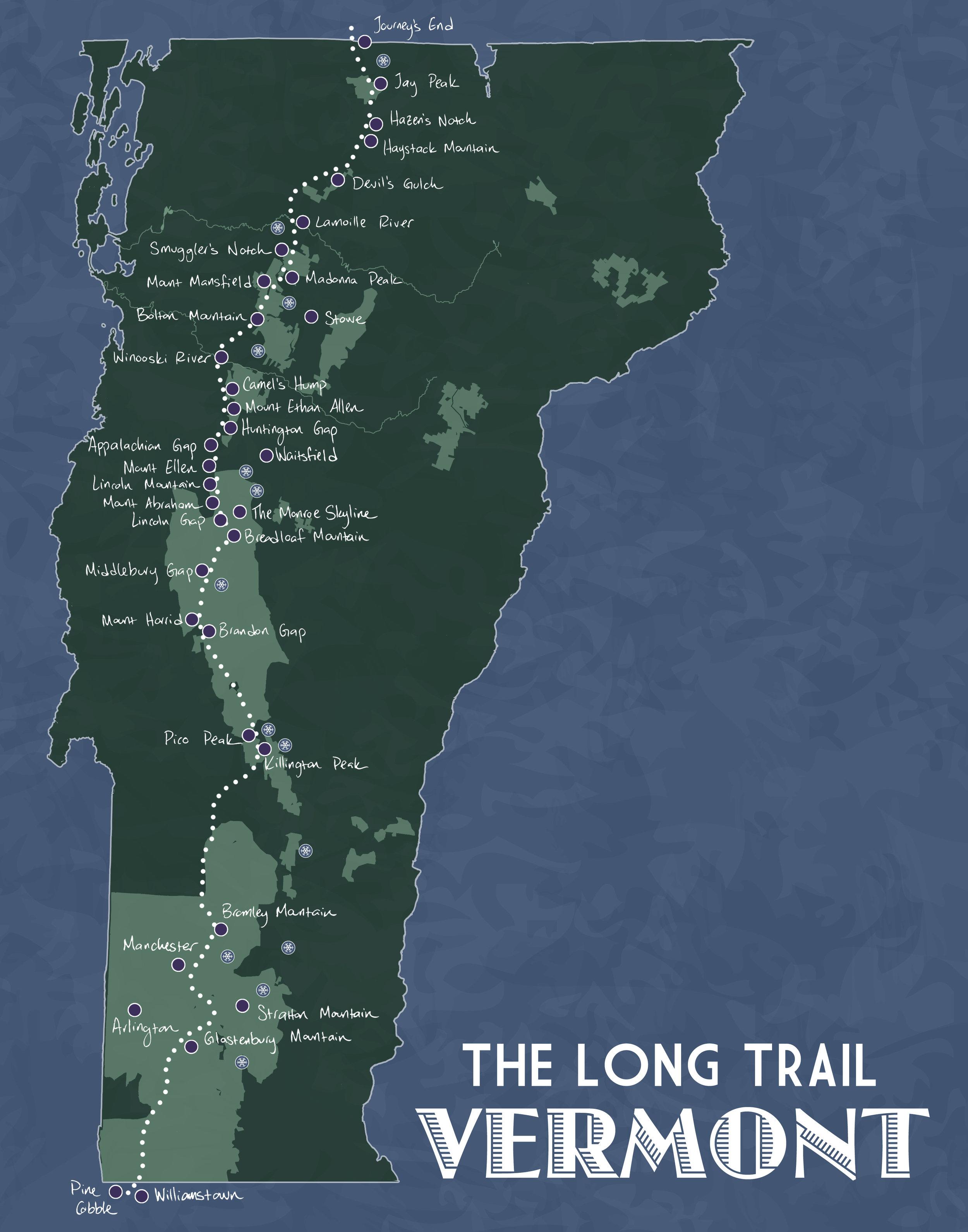 Long Trail, Vermont, 2015
