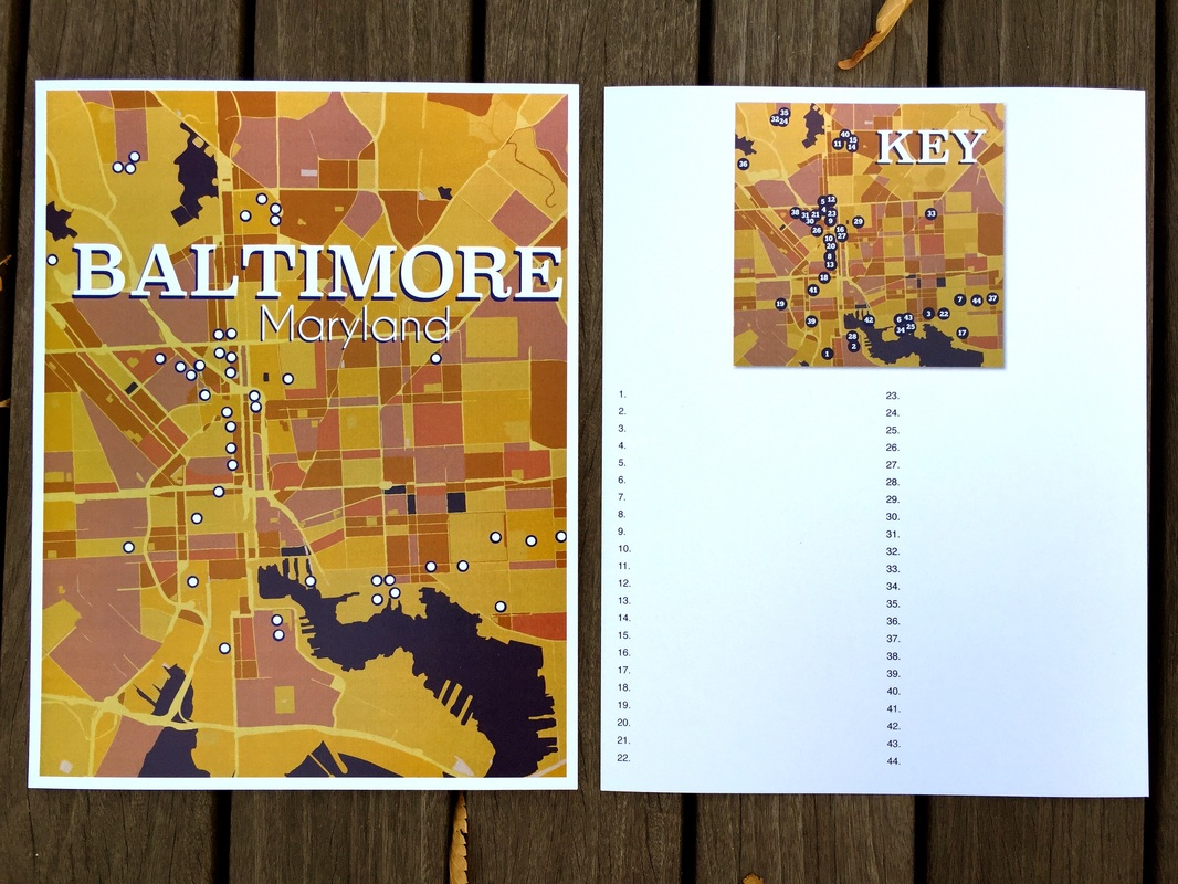 Personal History Map - Baltimore Maryland, 2015