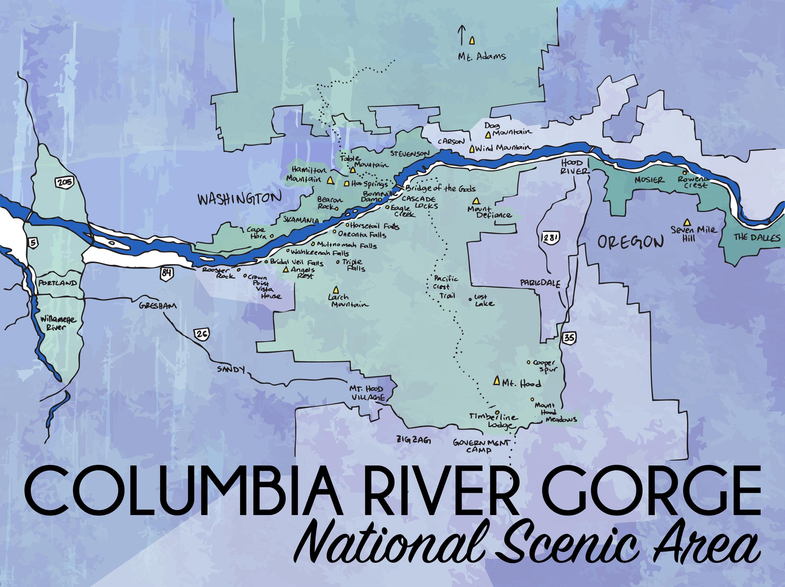 Columbia River Gorge, Oregon, 2015