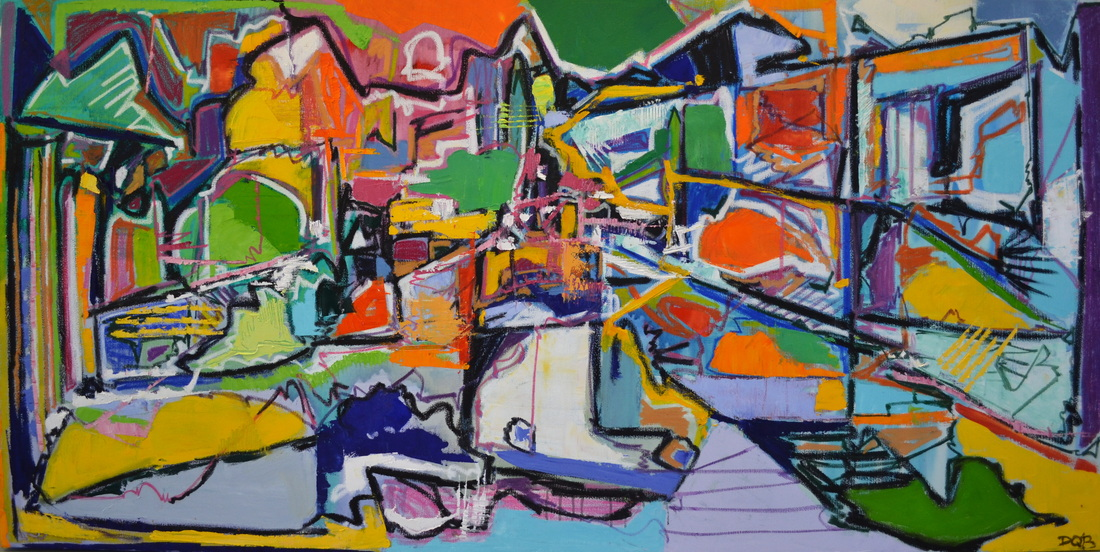 Supposed To Be  36 x 72 inches; Oil on Canvas, 2014  (SOLD)