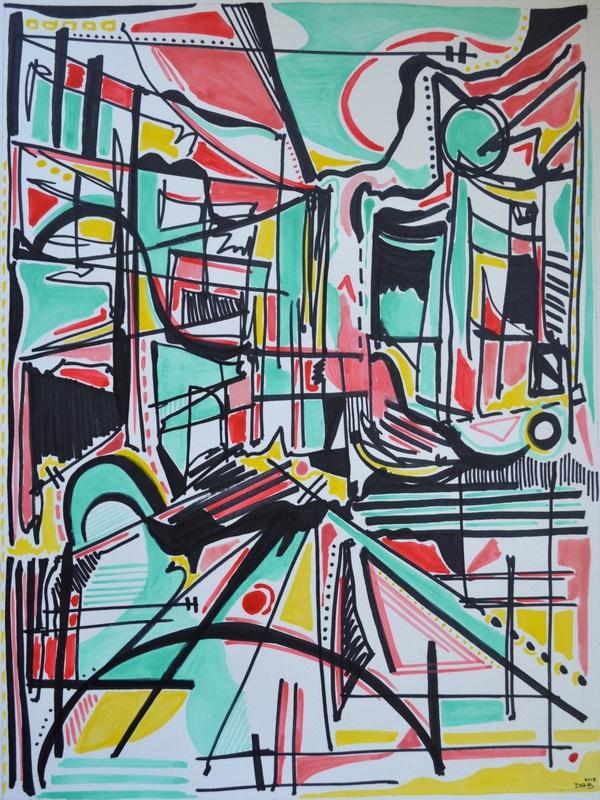 Harper Kim, 15.75 x 11.75 inches, Pen and Watercolor, 2015.