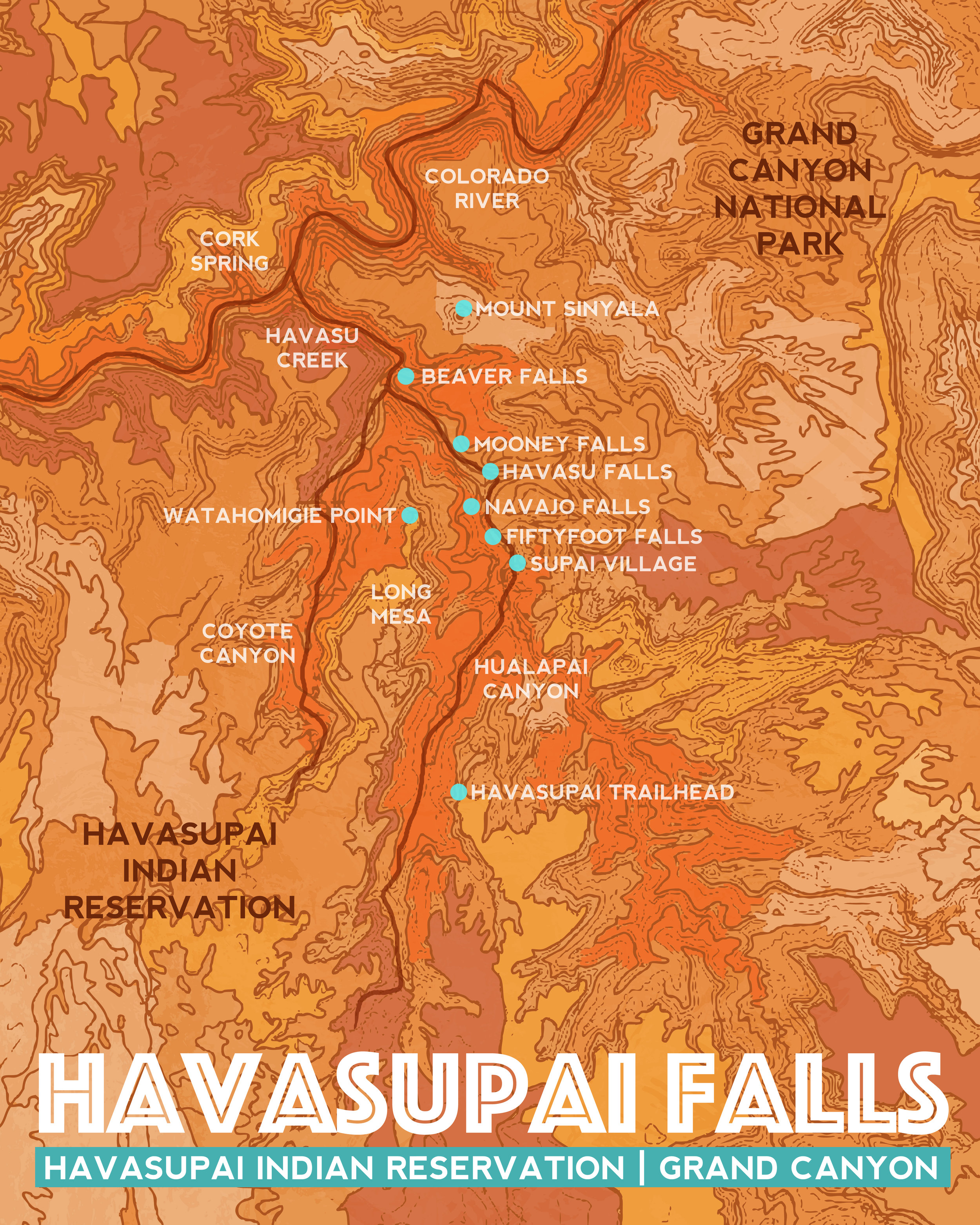 Havasupai Falls, 2018