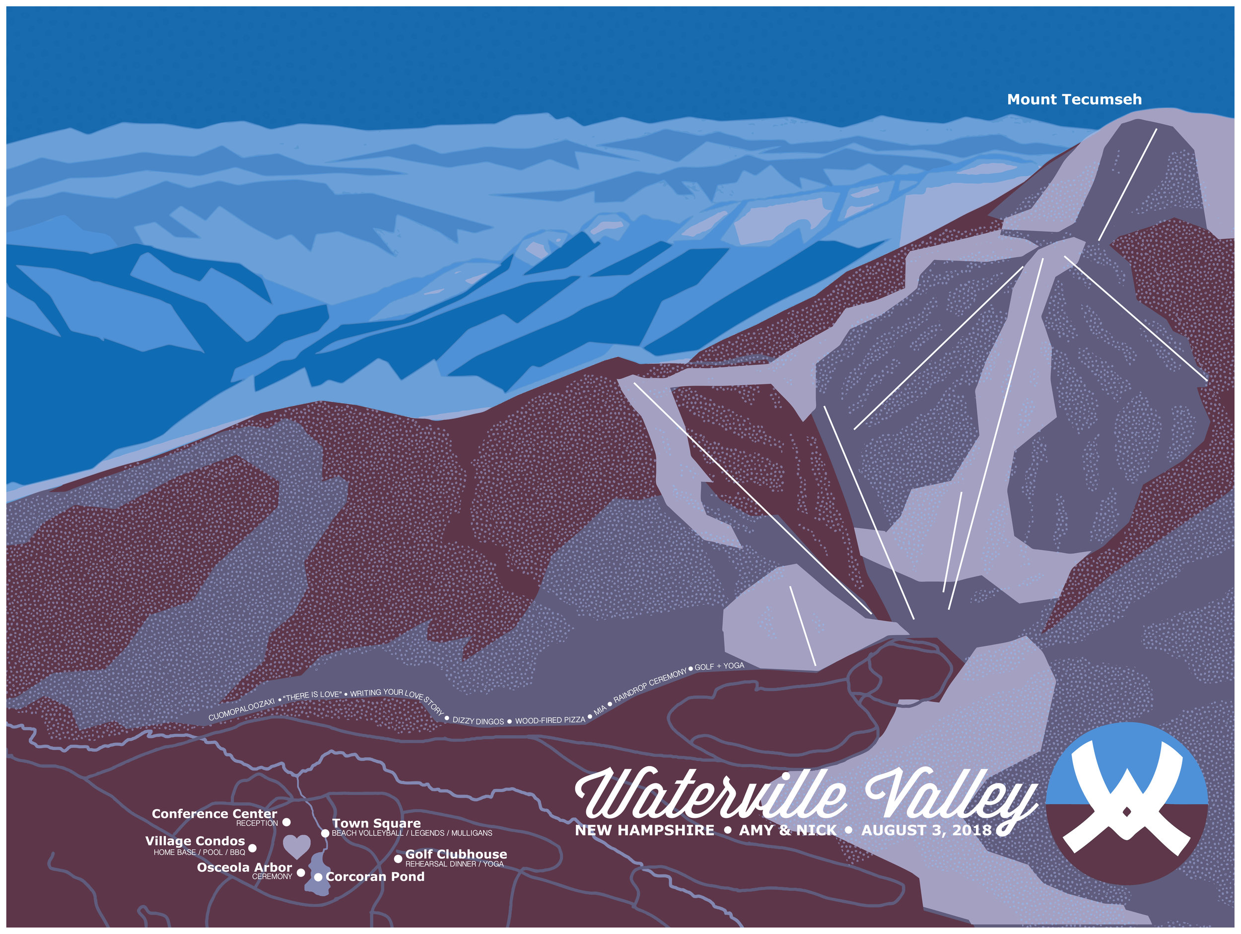 Custom Waterville Valley Map, 2018
