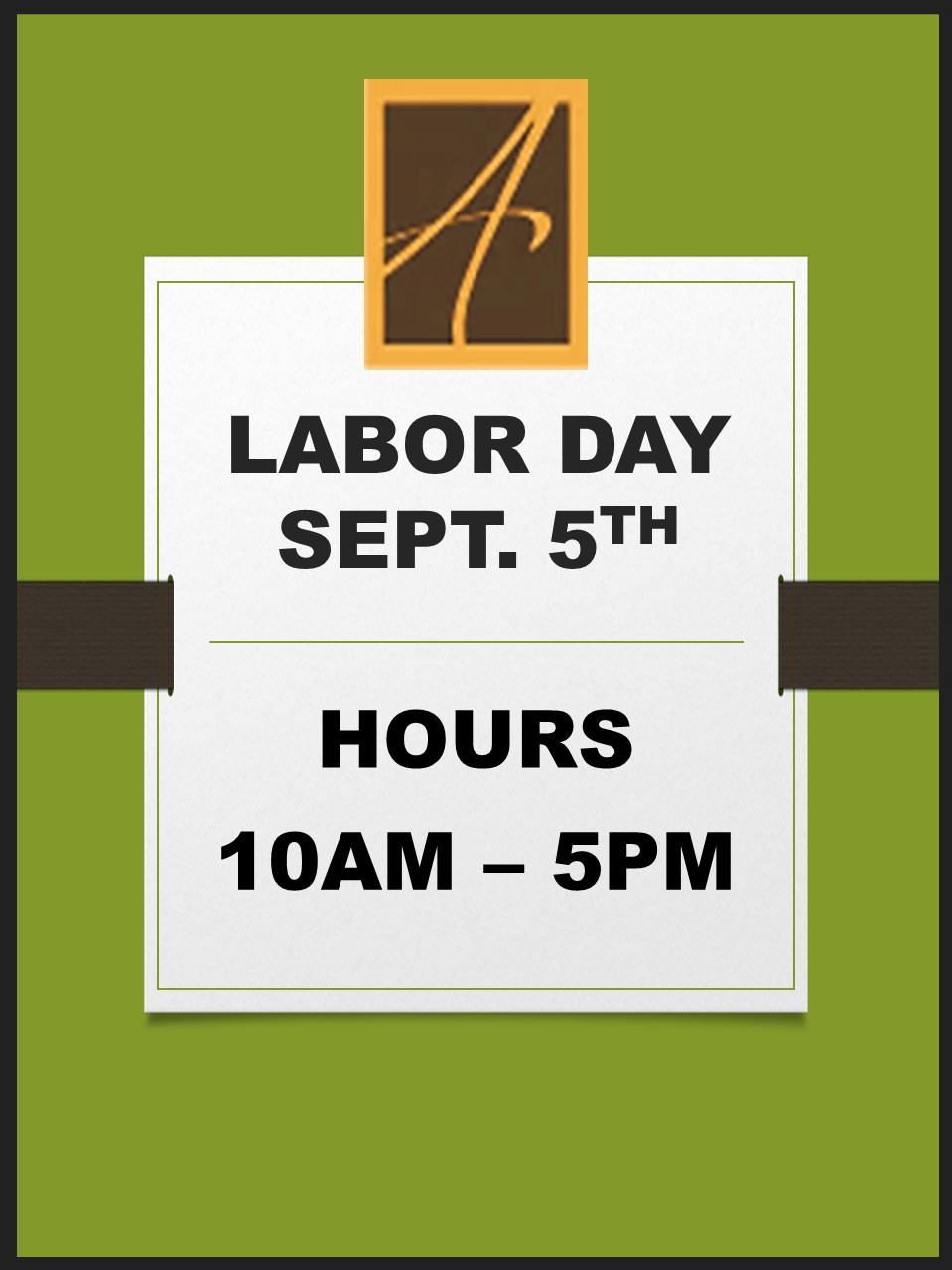 ATS Labor Day Hours