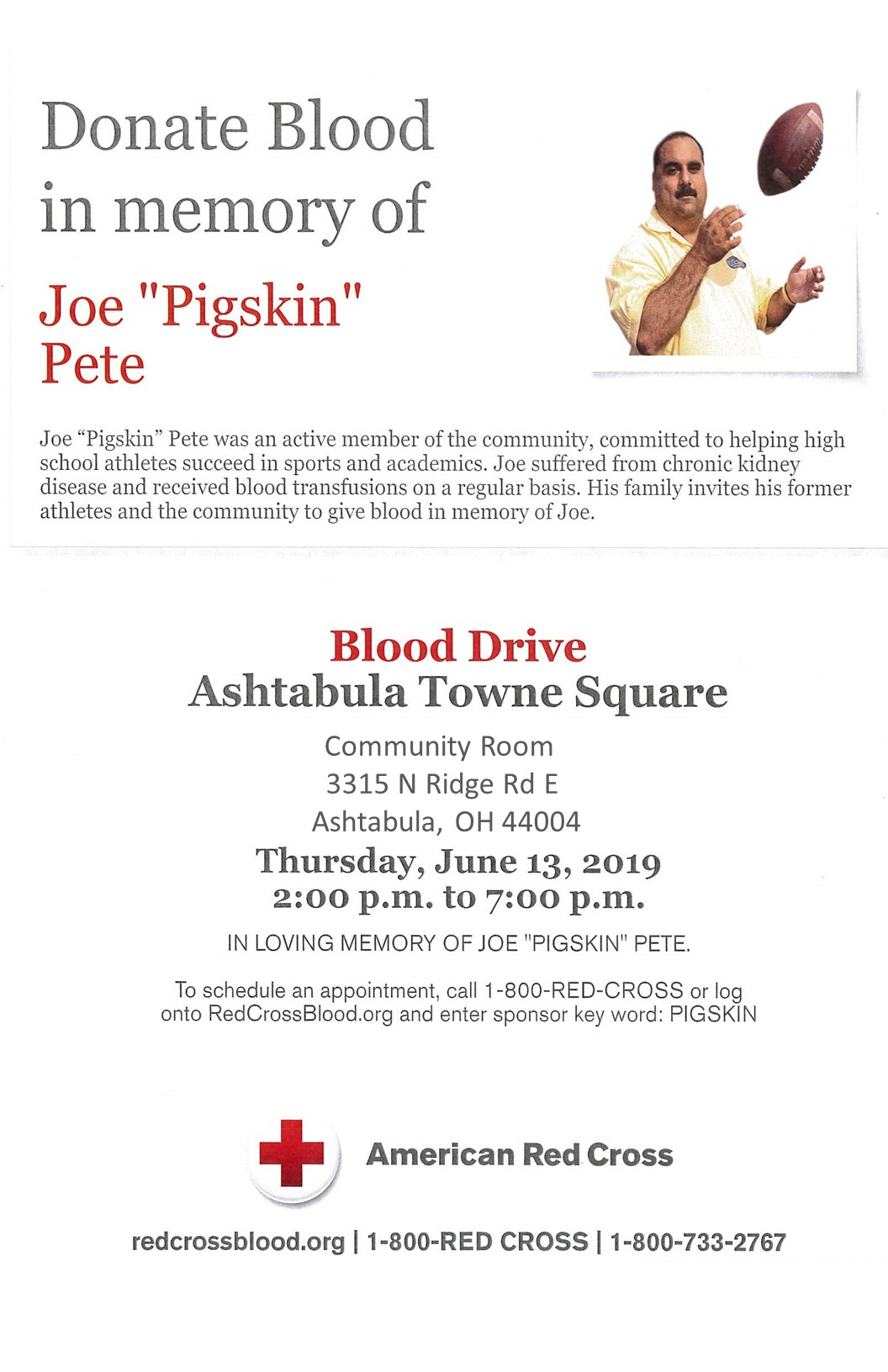 Blood drive Joe Peet  2019 poster.jpg