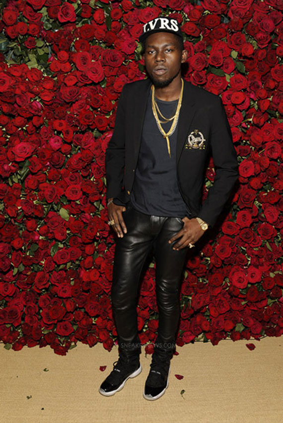 "Artist Theophilus London in Air Jordan 11 Low ""Space Jams"" at a MoMA Benefit, 2011"