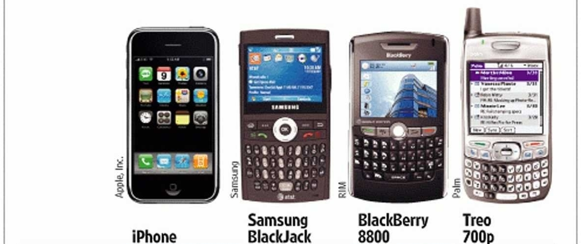 The original iPhone compared to its 2007 contemporaries. The influence of the 6 Pillars should be evident (source: BusinessInsider)