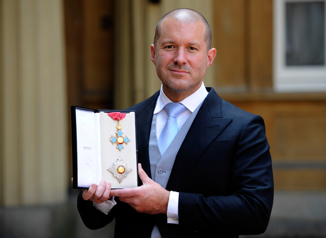 Apple Senior VP of Design Sir Jonathan Ive after his knighting ceremony, 2012