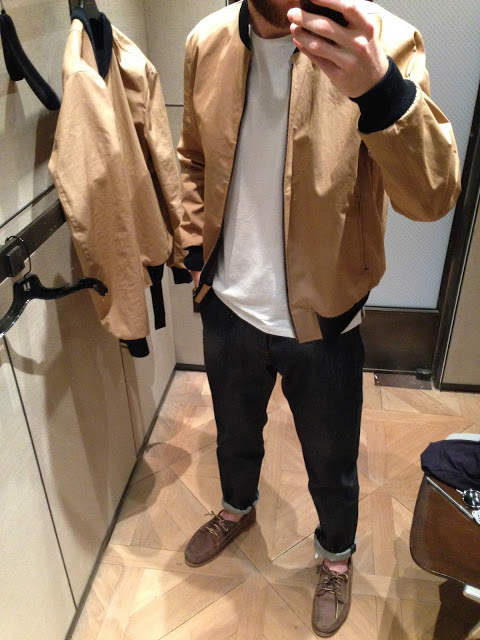 """Dries van Noten bomber jacket, APC jeans, and T by Alexander Wang shirt.Filed under """"reasons to all-night for that A- in Accounting"""""""