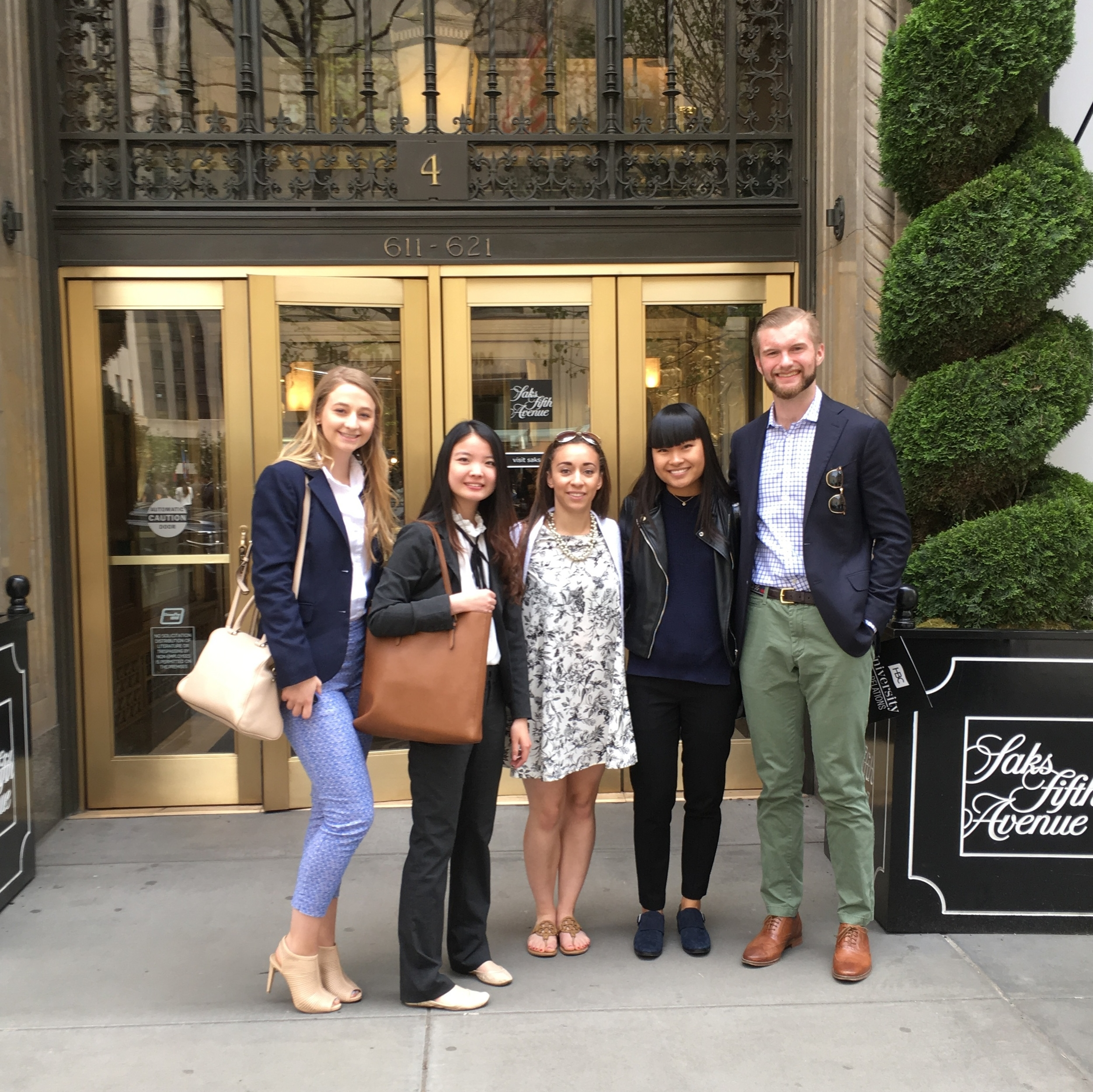 Part of the Saks immersion group (photo credit: two random French grandmothers who I brokenly asked  pour prendre une photo )