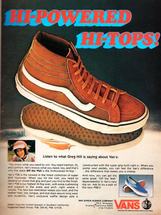 An originals Vans Sk8-Hi print ad (source:  othersideofthepillow )