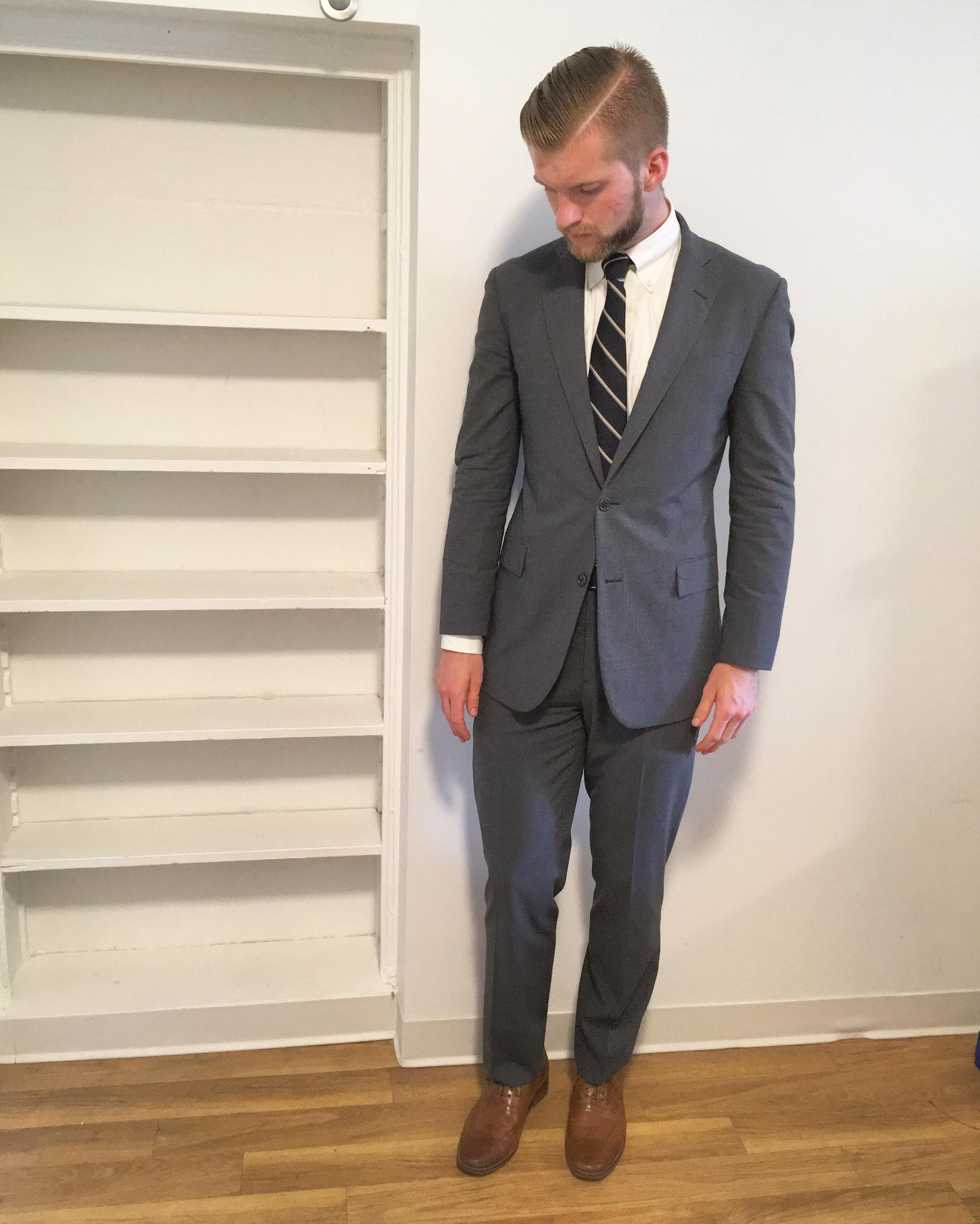 Brooks Brothers suit/Charles Tyrwhitt/Cole Haan/Tiebar