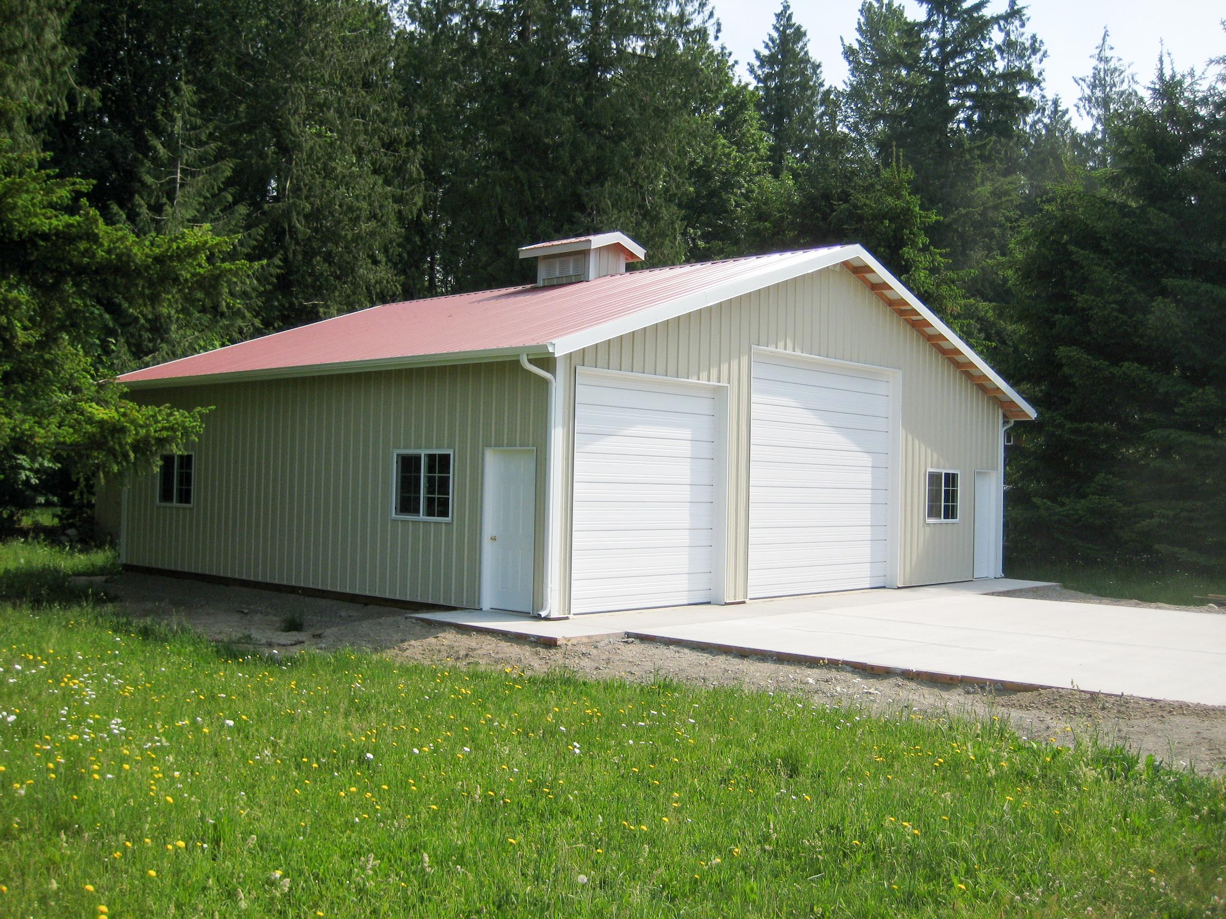 storage building, whatcom county pole buildings, whatcom county post frame construction, ferndale shop