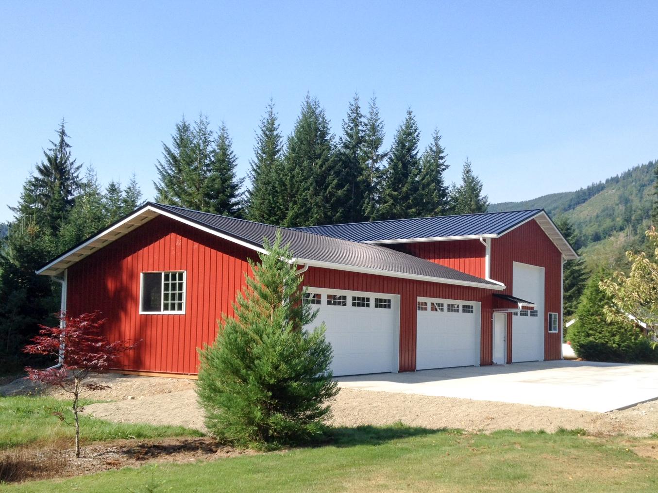 stall barn, barn, everson post frame construction, pole buildings