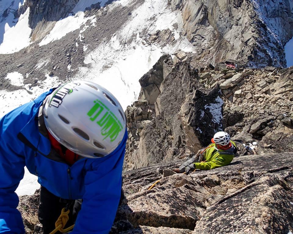 Edmond Summit's staff climbing in their free time.