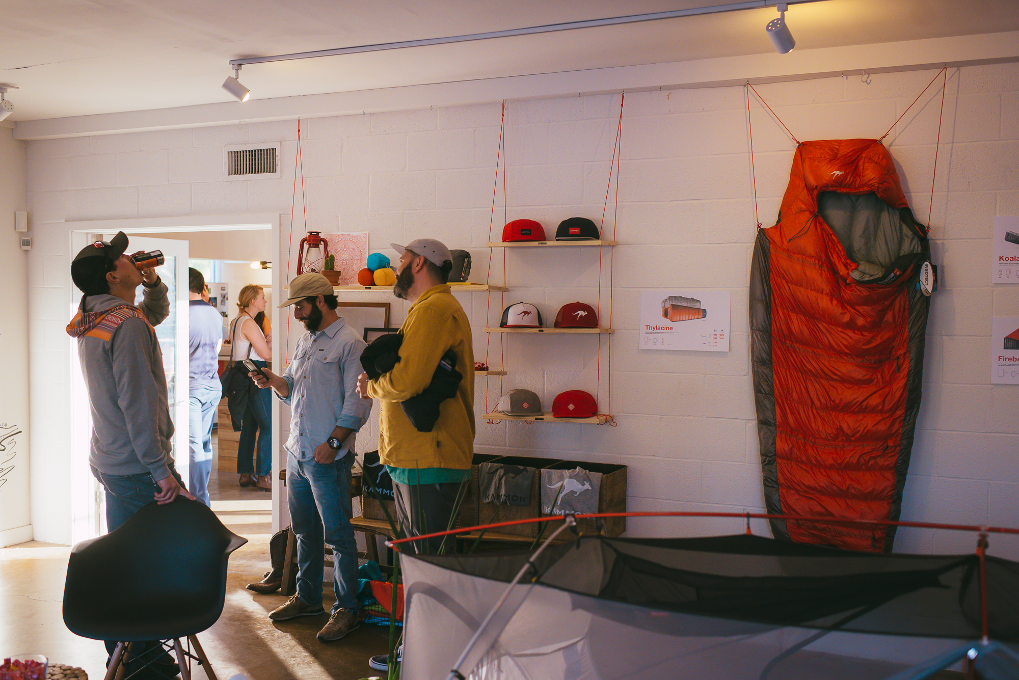 Kammok Gear Shop debut, swing by this week from 11-6 pm!