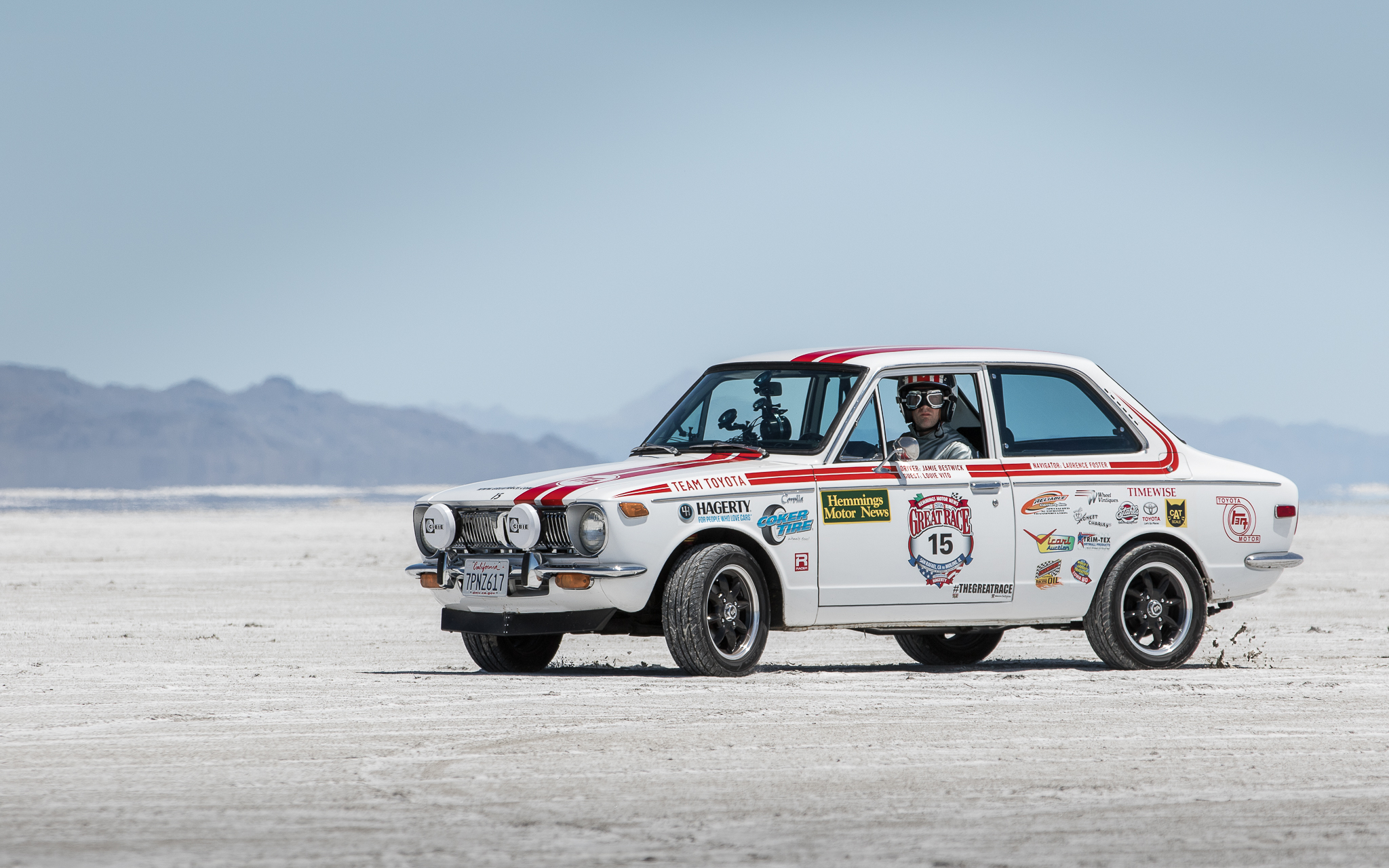 EVENT - The Great Race  CLIENT - Toyota Motor Sales  Developed and managed an entry for the Great Race to celebrate the anniversary of the Toyota Corolla