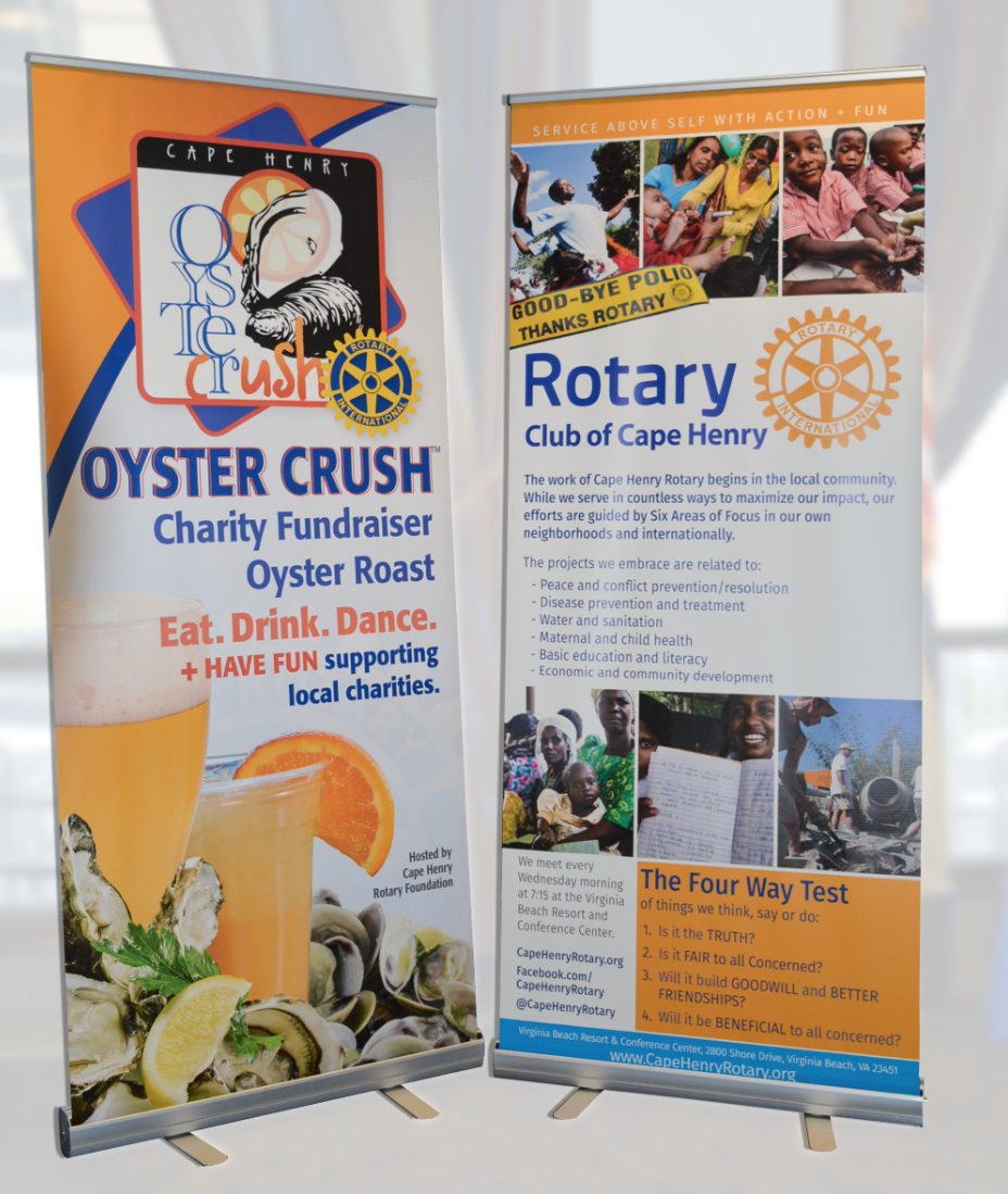 Oyster Crush Charity Fundraiser + Cape Henry Rotary Banners