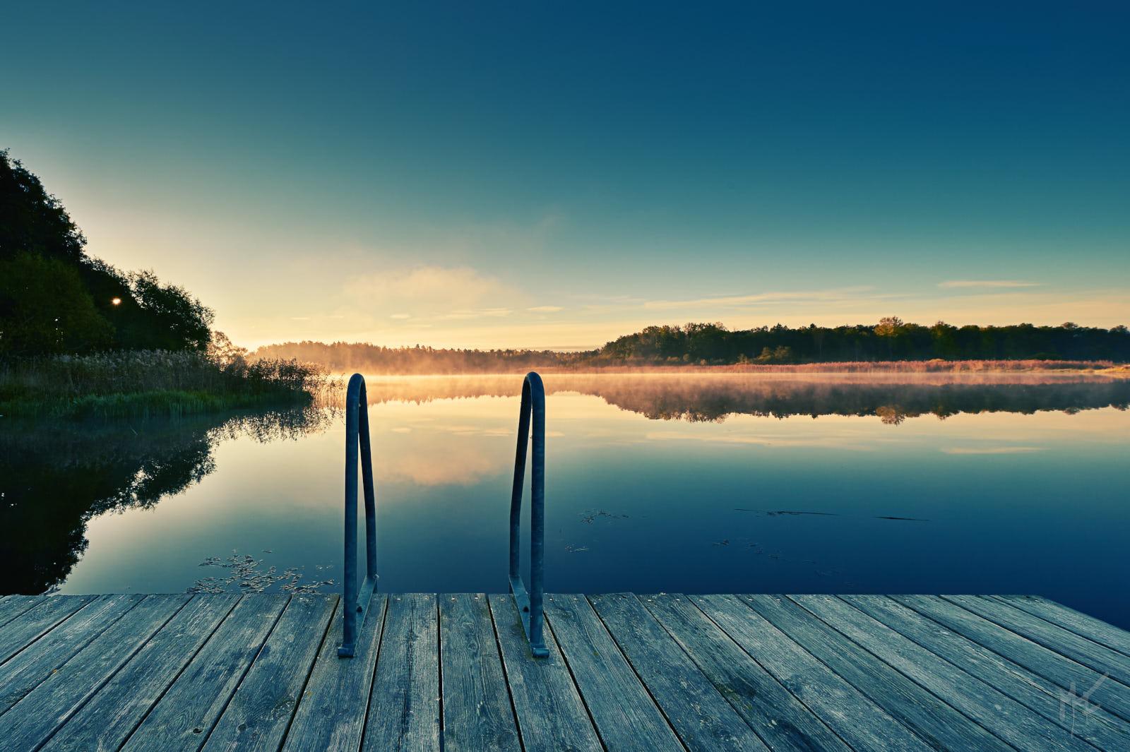 dawn in Västmanland County, Sweden