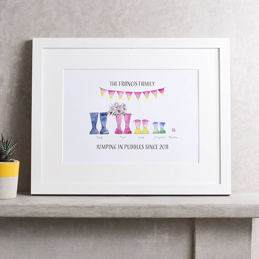 Family print - Cute customisable prints capturing the essence of your family's story.