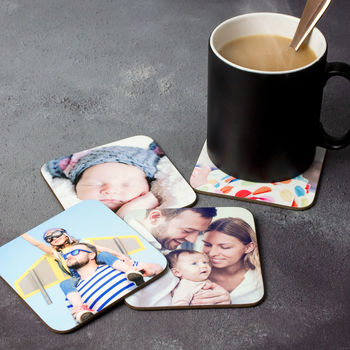 Photo coasters - Personalise coasters with images from the last year of fathering or one of my shoots.