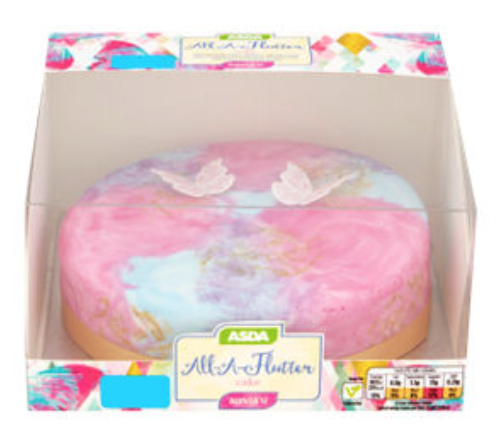ASDA marble effect butterfly cake