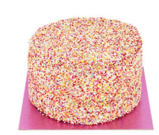 ASDA rainbow cake